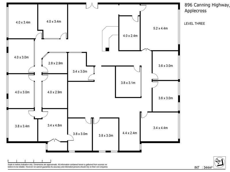3rd Floor, 896 Canning Highway Applecross WA 6153 - Floor Plan 1