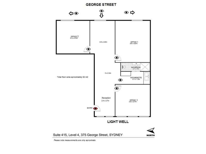 415/375 George St Sydney NSW 2000 - Floor Plan 1