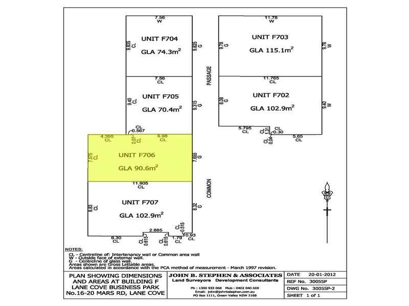 F706, 16 Mars Road Lane Cove West NSW 2066 - Floor Plan 1