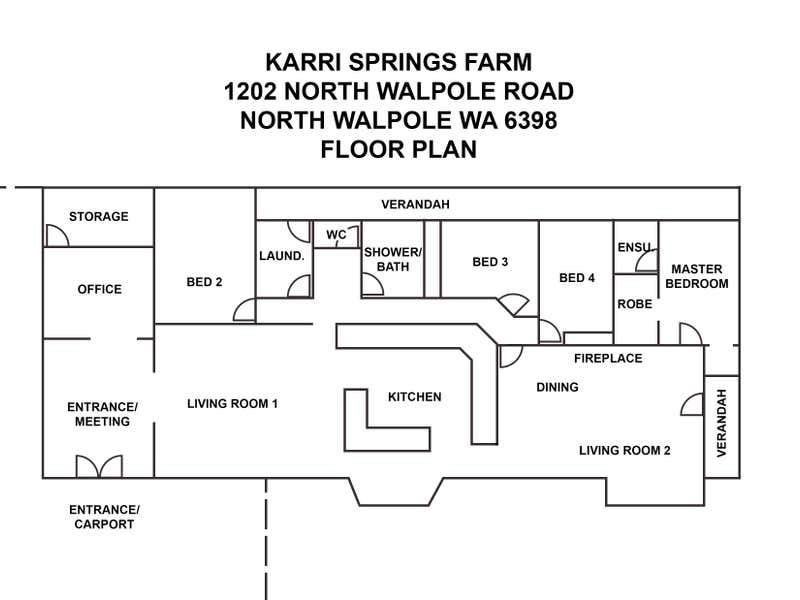 Walpole Karri Springs Farm 91 Ha, 1202 North Walpole Road Walpole WA 6398 - Floor Plan 2