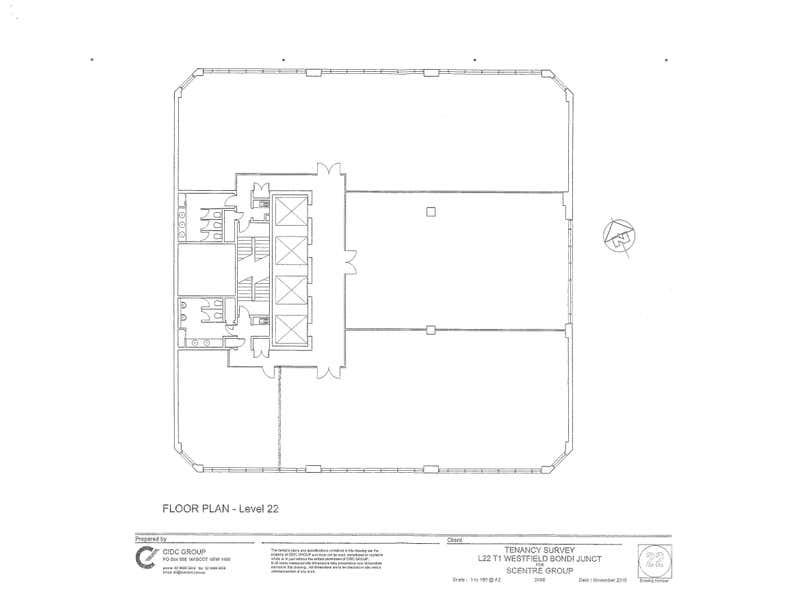 Westfield Tower 1, 520 Oxford Street Bondi Junction NSW 2022 - Floor Plan 1