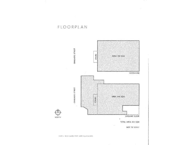 Shop 2, 188 Chalmers Street Surry Hills NSW 2010 - Floor Plan 1