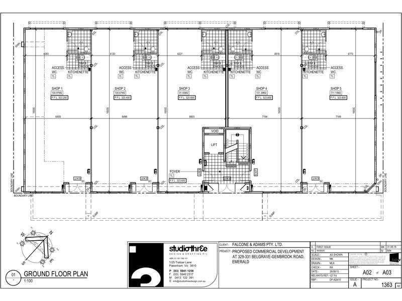 FOOD & DRINK, 329-331 Belgrave Gembrook Road Emerald VIC 3782 - Floor Plan 1