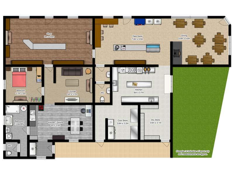 Oatlands Roadhouse Cafe, 47 High Street Oatlands TAS 7120 - Floor Plan 1