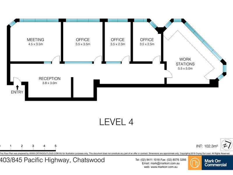 403/845 Pacific Highway Chatswood NSW 2067 - Floor Plan 1