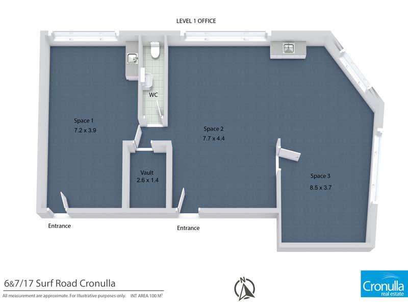 Cronulla Chambers, Suite 6 & 7, 17  Surf Road Cronulla NSW 2230 - Floor Plan 1