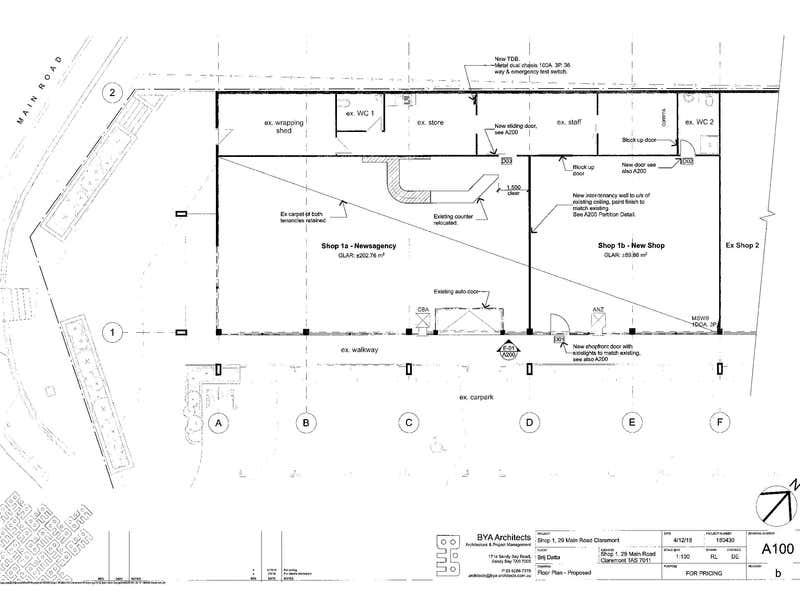 Shops 1, 1B, 2 & 3, 29  Main Road Claremont TAS 7011 - Floor Plan 2