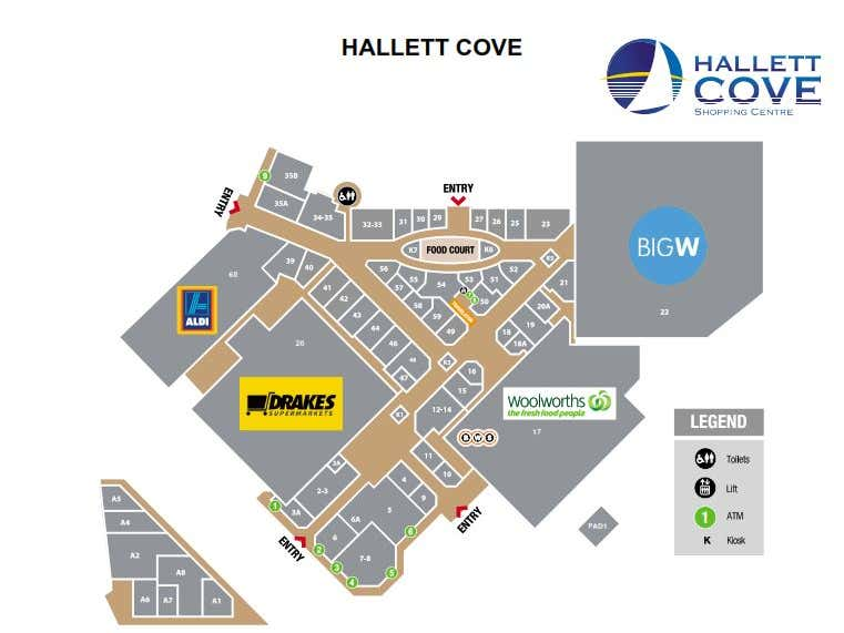 Hallet Cove Shopping Centre, 246  Lonesdale Road Hallett Cove SA 5158 - Floor Plan 1