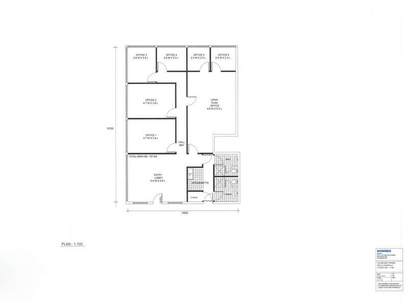 1st Floor, 254 Railway Parade West Leederville WA 6007 - Floor Plan 1