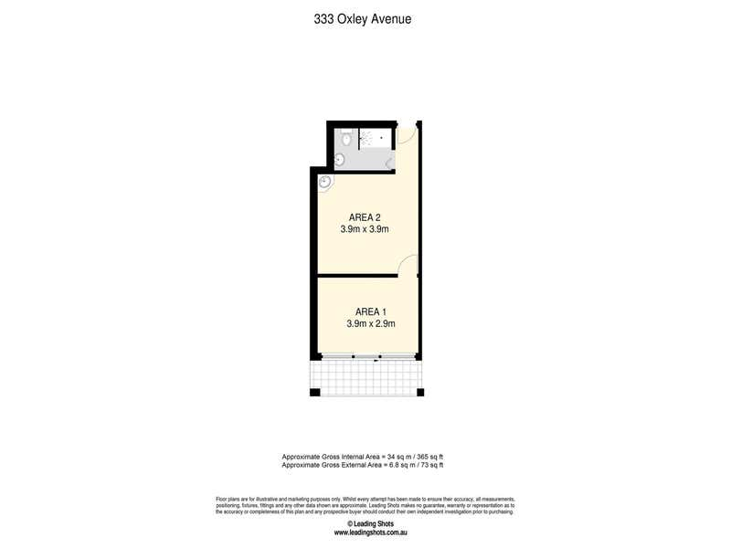 333B Oxley Ave Margate QLD 4019 - Floor Plan 1