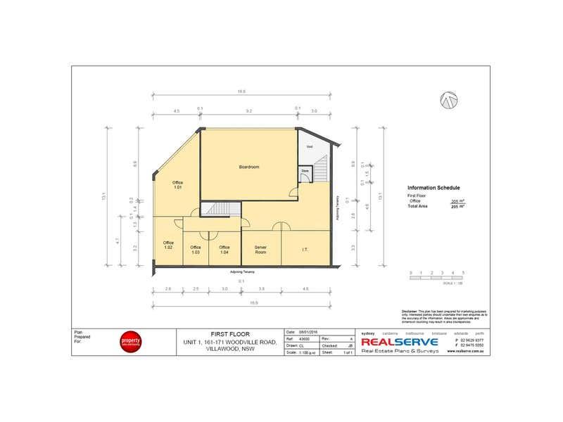 Unit 1 - Lvl 1, 161 Woodville Road Villawood NSW 2163 - Floor Plan 1