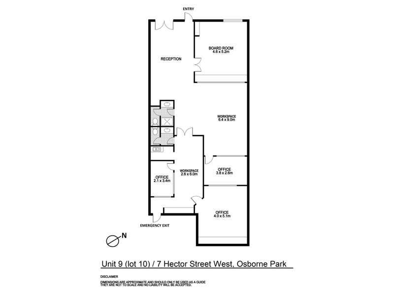 9/7 Hector Street Osborne Park WA 6017 - Floor Plan 1