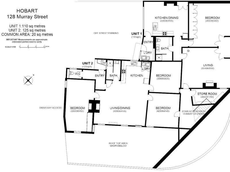 1 and 2 126-128 Murray Street Hobart TAS 7000 - Floor Plan 1
