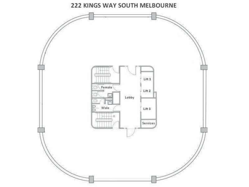 Level 6, 222 Kings Way South Melbourne VIC 3205 - Floor Plan 1