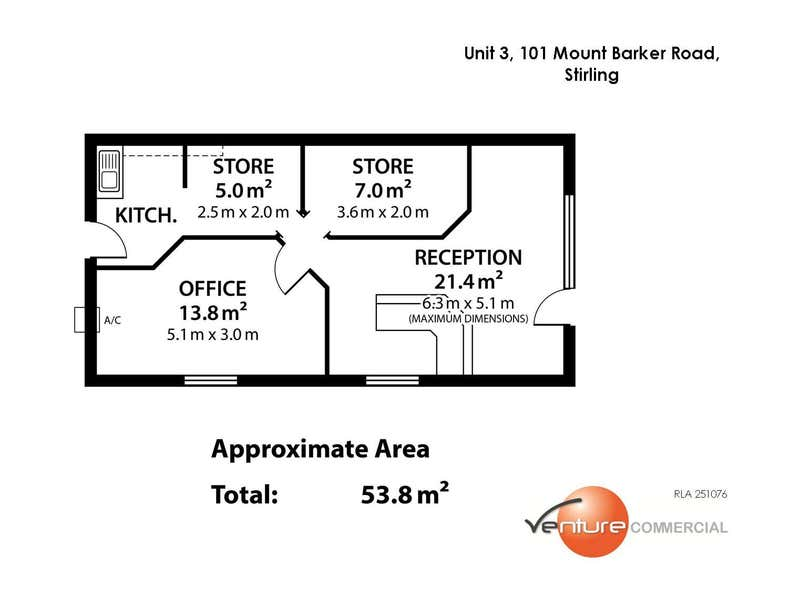 Unit 3, 101 Mount Barker Road Stirling SA 5152 - Floor Plan 1