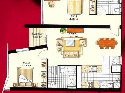 1108/108 Albert Street, Brisbane City, Qld 4000 - floorplan