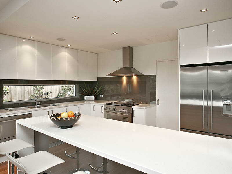 kitchen design window splashback lighting in a kitchen design from an australian home 903