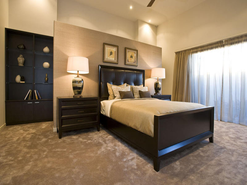 Bedroom Ideas Photos Designs Brown Carpetbedroom Design Idea With Carpet Floor To Ceiling Windows