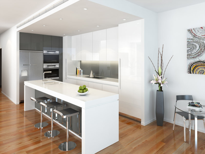 modern island kitchen modern island kitchen design using floorboards kitchen photo 165811 5335